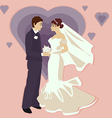 Wedding in a flat style vector image