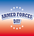 armed forces day america banner on red and blue vector image vector image