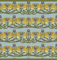 art deco floral seamless pattern on grey vector image vector image