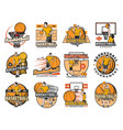 basketball tournament college club or league icon vector image