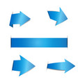 blue arrow stickers on white background vector image vector image