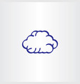 blue cloud line icon symbol design element sign vector image