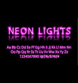 bright neon alphabet letter pink vector image vector image