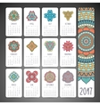 Calendar in ethnic style vector image vector image