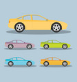 car in flat style vector image vector image