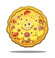 Cartoon pepperoni pizza vector image vector image