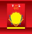 celebrate navratri festival poster design vector image vector image