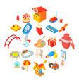 childness icons set cartoon style vector image