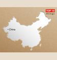 china map chinese maps craft paper texture empty vector image vector image
