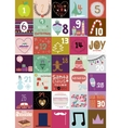 Christmas and New Year greeting calendar vector image