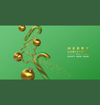 christmas new year gold 3d party decoration card vector image