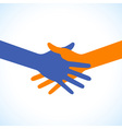 Colorful icon hand shake for business and finance vector image vector image