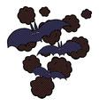 comic cartoon vampire bats vector image