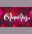 coronavirus banner for awareness or alert vector image vector image