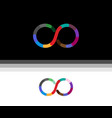 creative infinity symbol logo vector image vector image