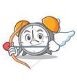 cupid alarm clock character cartoon vector image