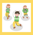 cute funny high school student dancing to kpop vector image vector image