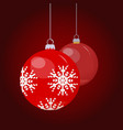 december winter holiday christmas bauble ball vector image vector image