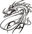 dragon template vector image vector image