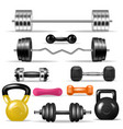 dumbbell fitness gym weight equipment dumb vector image