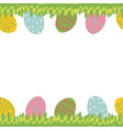 easter greeting card with seamless floral border vector image vector image