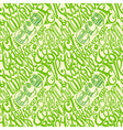 Eco friendly concept-seamless hand drawn pattern vector image vector image