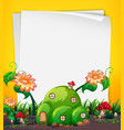 fairy hill house template vector image vector image