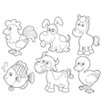 Farm animals cartoon vector image vector image