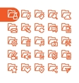 Fat Line folder Icons vector image vector image