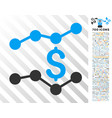 financial trends flat icon with bonus vector image vector image
