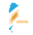 flag and map of argentina vector image vector image