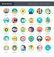 flat design icons for marketing and management vector image vector image