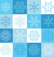 Flat outlined snowflake icons vector image vector image