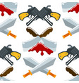 flat seamless pattern weapons format knife vector image