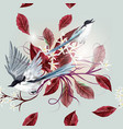 floral seamless wallpaper pattern with birds vector image