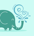 Friendly elephant vector image