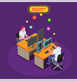 game development isometric background vector image
