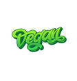 green letter vegan on white isolated background vector image vector image