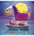 Horse With Lantern Surreal Dream Poster vector image vector image
