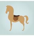 horsemanship icon design vector image