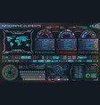 hud ui futuristic user interface hud and vector image vector image