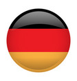 isolated flag of germany vector image vector image