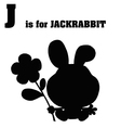 Jack rabbit cartoon with letter vector image vector image