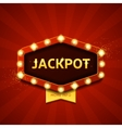 Jackpot retro banner with glowing lamps vector image vector image