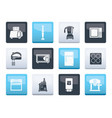 kitchen and home equipment icons vector image