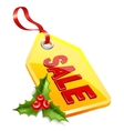 label Christmas sale Mistletoe icon vector image vector image