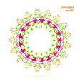 lacy pattern of flowers vector image vector image