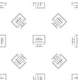 live video stream pattern seamless vector image