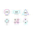 logo set set simle logo in modern minimal vector image vector image