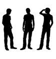 men is different standing positions vector image vector image